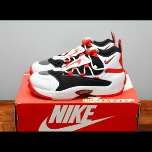 nike air swoopes 2 white red womens sizes
